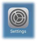 select the Settings app