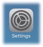 select the Settings app